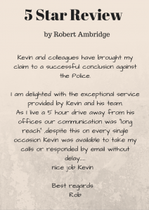 A 5 star review from Robert Ambridge, a satisfied client of Donoghue Solicitors.
