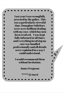 A 5 star review for Donoghue Solicitors actions against the police lawyers.
