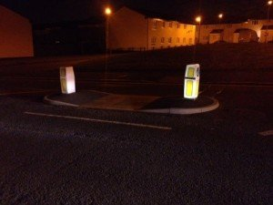 Road accident claims can be avoided with properly lit safety refuges.